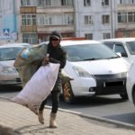 collecting recyclables in Ulaanbaatar
