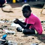 sle-500 A child in Kroo Bay slum
